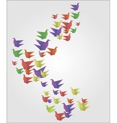 Origami birds abstract background vector