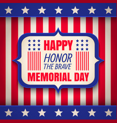 Banner for memorial day vector