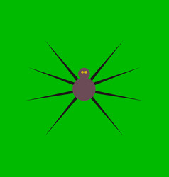 Flat icon stylish background halloween spider vector