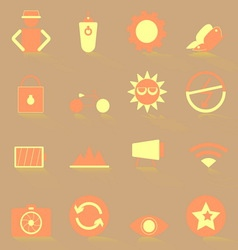 Photography color icons with shadow vector