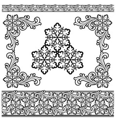 Winter design elements vector