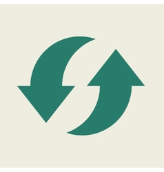 Eco flat icon vector