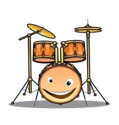 Set of drums and cymbals for a band vector