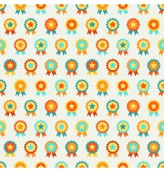 Reward seamless pattern of medal vector