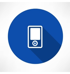 Portable musical player icons vector image