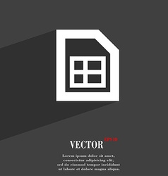 File document icon symbol flat modern web design vector