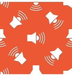 Orange loudspeaker pattern vector