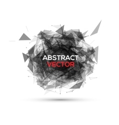 Abstract black geometric explosion speech vector