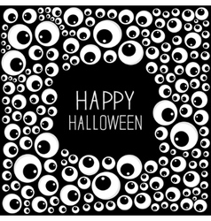 Eyes frame halloween card spooky black background vector