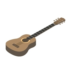 Acoustic guitar icon in cartoon style isolated on vector image vector image
