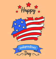 Art card style independence day vector