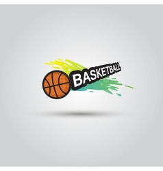 Ball symbol basketball logo badge sport emblem vector