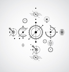 Bauhaus art composition decorative modular vector