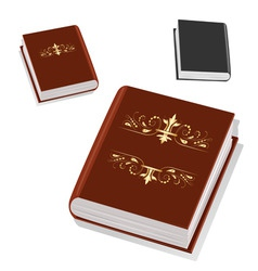 book with gold ornament on the cover vector image vector image