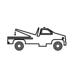 breakdown truck black icon vector image vector image