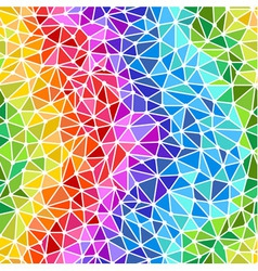 Bright rainbow triangles low poly seamless backgro vector image