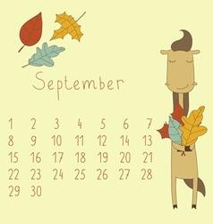 Calendar for september 2014 vector