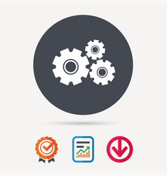 Cogwheels icon repair service sign vector