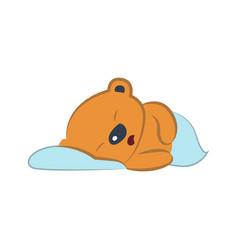 cute bear sleeping vector image