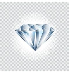 Diamond realistic brilliant vector