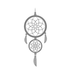 Dreamcatcher icon in monochrome style isolated on vector