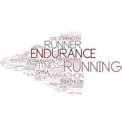 Endurance word cloud concept vector