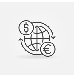 Euro to dollar convert icon vector
