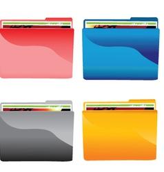 File folder icons set vector