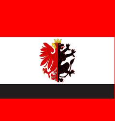 Flag of kuyavian-pomeranian voivodeship in poland vector