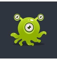 Green octopus alien vector