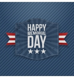 Happy memorial day realistic banner with text vector
