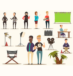 movie making elements set vector image vector image