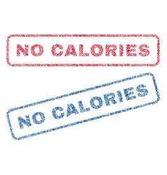 No calories textile stamps vector