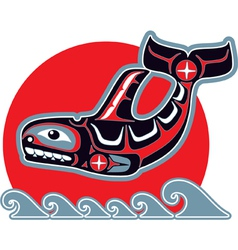 Orca - killer whale - in native art style vector