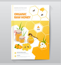 Organic raw honey designe brochure abstract vector