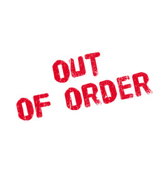 Out of order rubber stamp vector