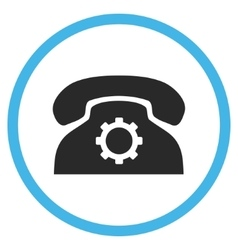Phone settings flat rounded icon vector