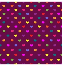 Purple colored hearts textile seamless pattern vector image