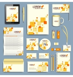 Set of corporate identity template Modern vector image vector image
