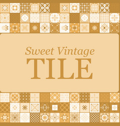 sweet vintage ceramic brown tiles vector image