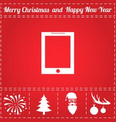 tablet icon vector image vector image