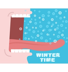 Winter time Yells Winter cry Snowflakes fly and vector image vector image