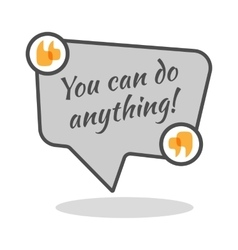 You can do anything motivational poster in vector