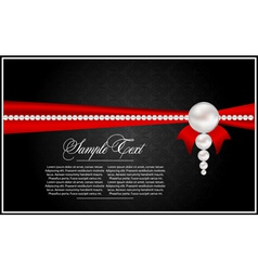 Abstract greeting card with pearls vector