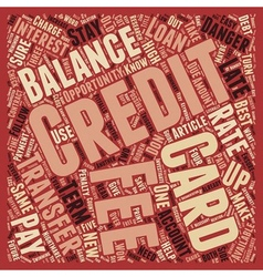 Balance transfer credit cards opportunity or vector