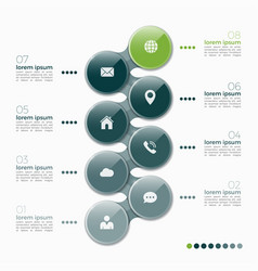 8 option infographic design with ellipses vector image