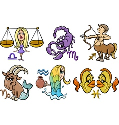 Horoscope zodiac signs set vector