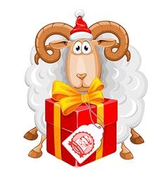 Sheep Christmas vector image