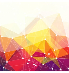 abstract triangles design vector image