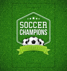 Soccer football poster soccer football field vector